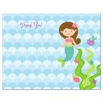 Under the Sea Mermaid Thank You Card