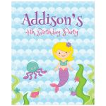 Under the Sea Mermaid Birthday Party Sign