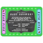 Contemporary Football Fan Baby Shower Invitation