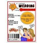 Comic Book Cover Wedding Invitation