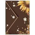 Contemporary Chocolate Brown and Sunflower Event Invitation