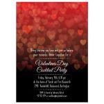 Party Invitation - Bokeh Hearts Valentines Day