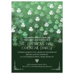 Party Invitation - St. Patrick's Day Bokeh Shamrocks