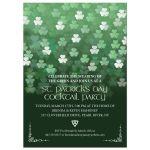 Party Invitation - St. Patrick's Day Bokeh Shamrocks