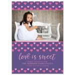 Love Is Sweet Photo Valentine's Day Cards front