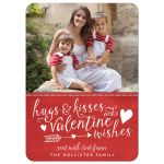 Hugs & Kisses and Valentine Wishes Photo Valentine's Day Cards front