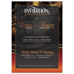 Sunset silhouette Wedding Invitation