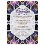 Crystal Purple Pink Birthday Invitation