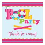Girl's Pool Birthday Party Thank You Favor Tags