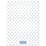 Blue Polka Dots Birth Announcements back
