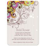 Funky swirls bridal shower invites