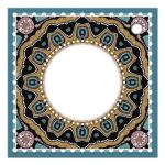 Teal Gold Circle Thanks Gift Tag