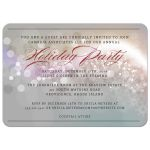 Party Invitation -  Silver Bokeh Snowflake Christmas Holiday Glitter