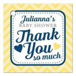 Cute Chevron Baby Shower Thank You Favor Tags