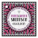 Pink Black Aztec Deco Gift Tags
