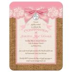 pink and ivory confirmation invitation