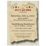 Vintage Hipster Fourth Of July Celebration Custom Invitation