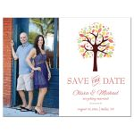 Whimsical cute tree photo save the date A2 flat cards
