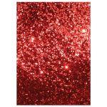 Party Invitation - Red Glitter Heart Valentine's Day