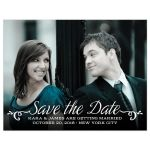 Calligraphy Type Save The Date Photo Magnet