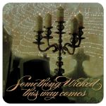 Dark Art spiderweb Candelabra Invite