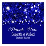 Navy Blue Glittery Confetti Personalized Favor Gift Tags