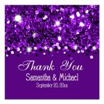 Purple Glittery Confetti Personalized Favor Gift Tags