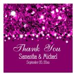 Hot Pink Glittery Confetti Personalized Favor Gift Tags