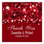 Red Glittery Confetti Personalized Favor Gift Tags