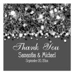 Silver Glittery Confetti Personalized Favor Gift Tags