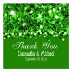 Emerald Glittery Confetti Personalized Favor Gift Tags