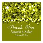 Olive Green Glittery Confetti Personalized Favor Gift Tags