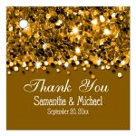 Gold Glittery Confetti Personalized Favor Gift Tags