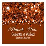 Copper Glittery Confetti Personalized Favor Gift Tags
