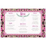 Bohemian Tribal Pink Menu Card