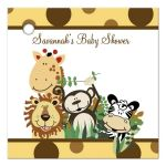 Zoo Crew Animals Yellow Gift Tag