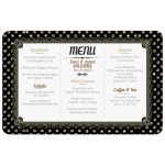 Black Gold Polka Dots Menu Card