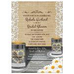 Rustic Tin Can Daisies Bridal Wedding Shower Invitation