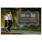 chalboard save the date front