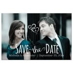 photo save the date hearts front