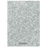 Silver Glitter Look 25th Wedding Anniversary Party Invitations back