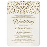 Glitter Look Wedding Invitations front