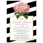 Modern Stripes & Hydrangea Bridal Shower Invitations front
