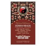 Red Black Yin Yang New Age Business Card