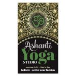 Gold Green Ashanti Om Yoga Studio Business Card