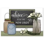 chalkboard, mason jars and calla lily