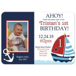 Nautical Sailboat Birthday Invitation