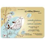 trendy retro bird wedding shower invitation