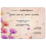 watercolor floral party invitation