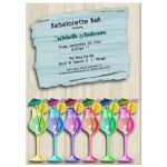 colorful tropical umbrella drink invitation